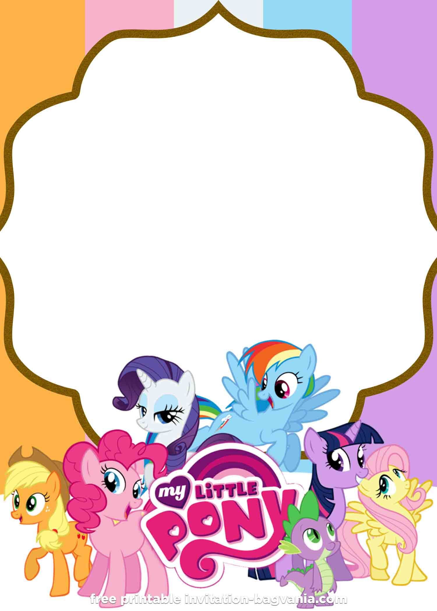 Free Printable My Little Pony Summer Edition Invitations My Little Pony Invitations My Little Pony Birthday My Little Pony Birthday Party