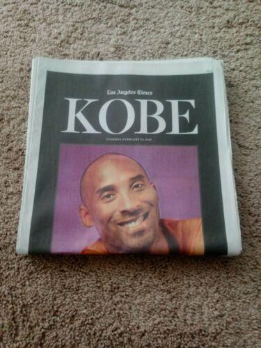 Kobe Bryant Mamba Sports Academy La Times 2 25 20 24 Page Tribute Ebay In 2020 Kobe Kobe Bryant La Times Newspaper