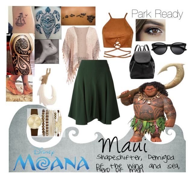 """""""Maui; Shapeshifter, Demigod of the wind and sea, Hero of men"""" by foreverdisneybounding ❤ liked on Polyvore featuring Raj Imports, Chloé, Witchery, Jessica Carlyle, disneybound, maui, moana and parkready"""
