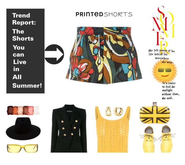 """""""Trend report : The shorts you can live in all summer"""" by no-where-girl ❤ liked on Polyvore featuring Marni, rag & bone, Balmain, Glamorous, Marsèll, Alexander McQueen, Gucci, BERRICLE, NYX and printedshorts"""