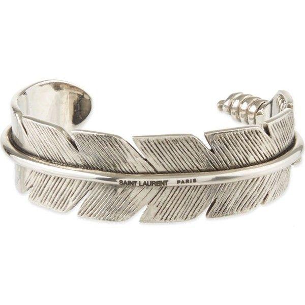 SAINT LAURENT Feather bracelet found on Polyvore