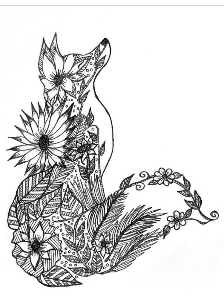 Fox Coloring Pages For Adults Below Is A Collection Of Fox Coloring Page Which You Can Download In 2020 Fox Coloring Page Animal Coloring Pages Mandala Coloring Pages