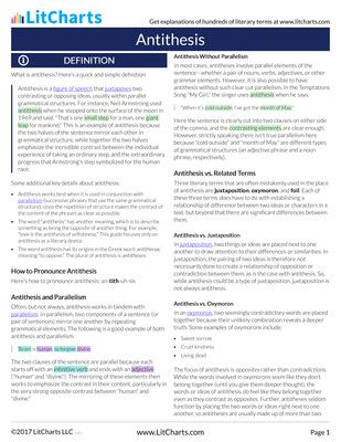 Antithesis Definition Examples Litcharts A Concise