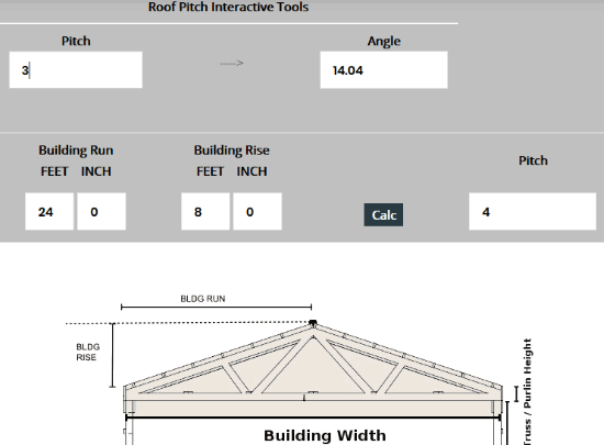 Roof Pitch Calculator Pitched Roof Roofing Calculator Fibreglass Roof