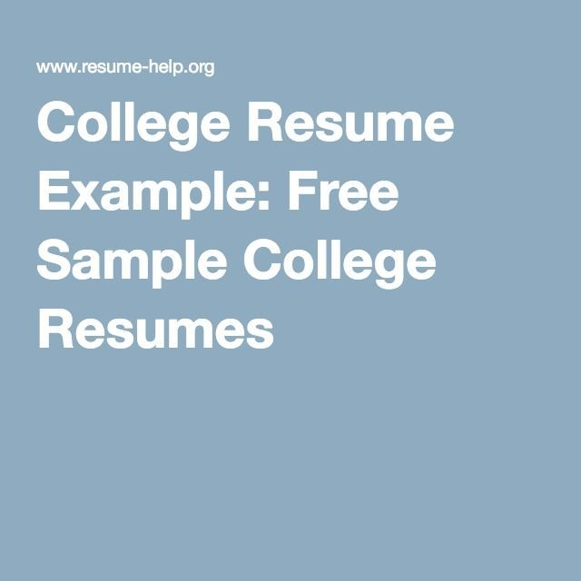College Resume Example Free Sample College Resumes resume - cashier resume