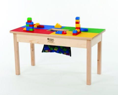 Phenomenal Lego Compatible Heavy Duty Wood Block Play Table 32X16 Complete Home Design Collection Barbaintelli Responsecom