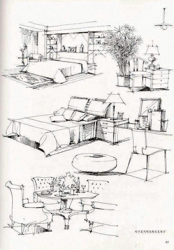 illustrators interior design drawinginterior - Draw Interior Design