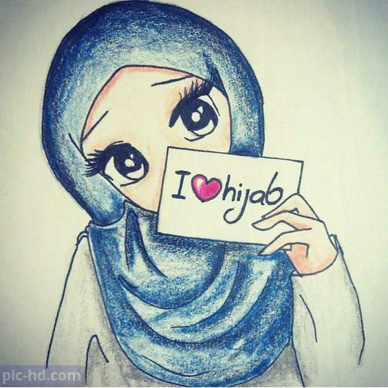 رمزيات بنات محجبات اجمل صور رمزيات بنات كيوت رمزيات كشخه للبنات Hijab Cartoon Anime Muslim Islamic Cartoon