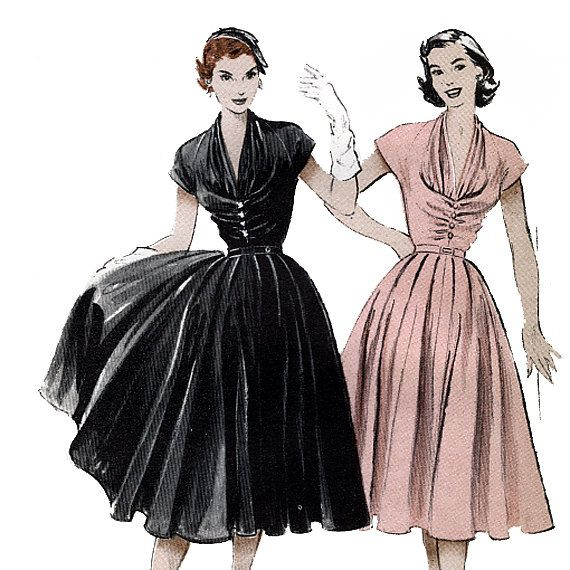 Butterick 6300 Vintage 50s Misses\' Dress Sewing Pattern - uncut ...