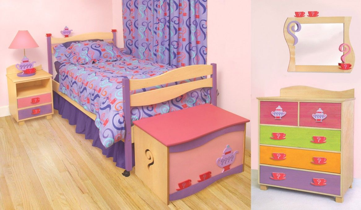 Superior Kids Bedroom Minimalist Bright Pink Little Girls Room Decorating With  Colorful Furniture And Minimalist Bed 13 Smart Little Girls Room Decorating  Ideas ...