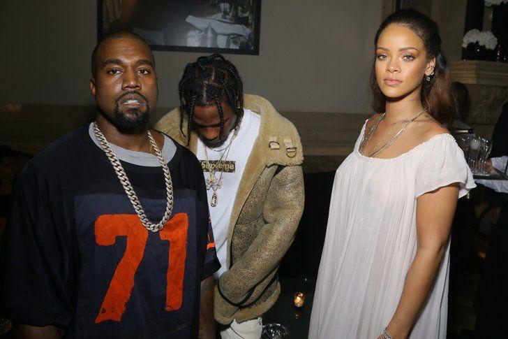Rihanna Kanye West And Travis Scott Yeezy Fashion Show Rihanna Kanye West Rihanna