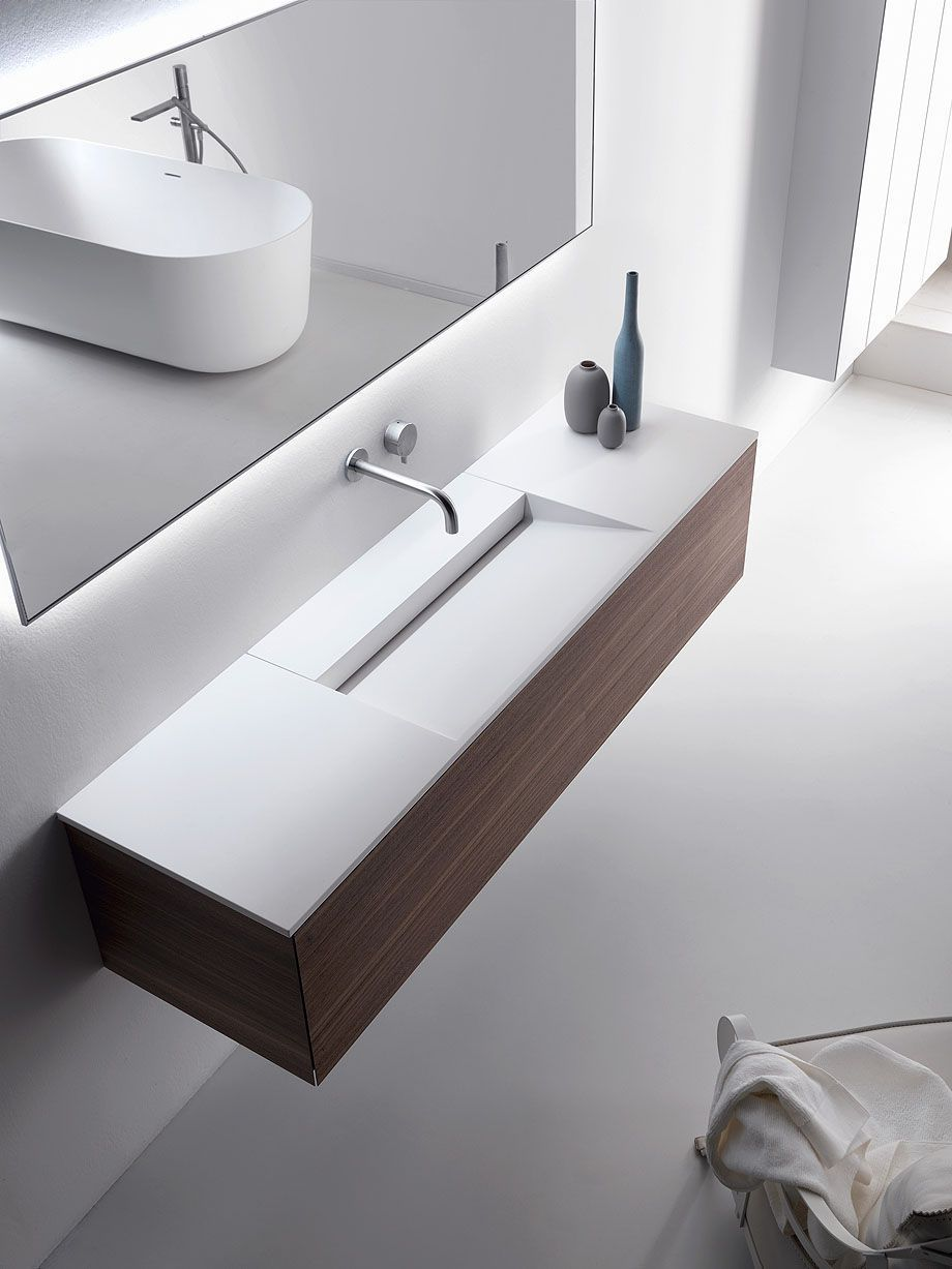 Coleccion Pure De Metrica Y Falper 1 In 2020 Washbasin Design Bathroom Design Luxury Creative Bathroom Design