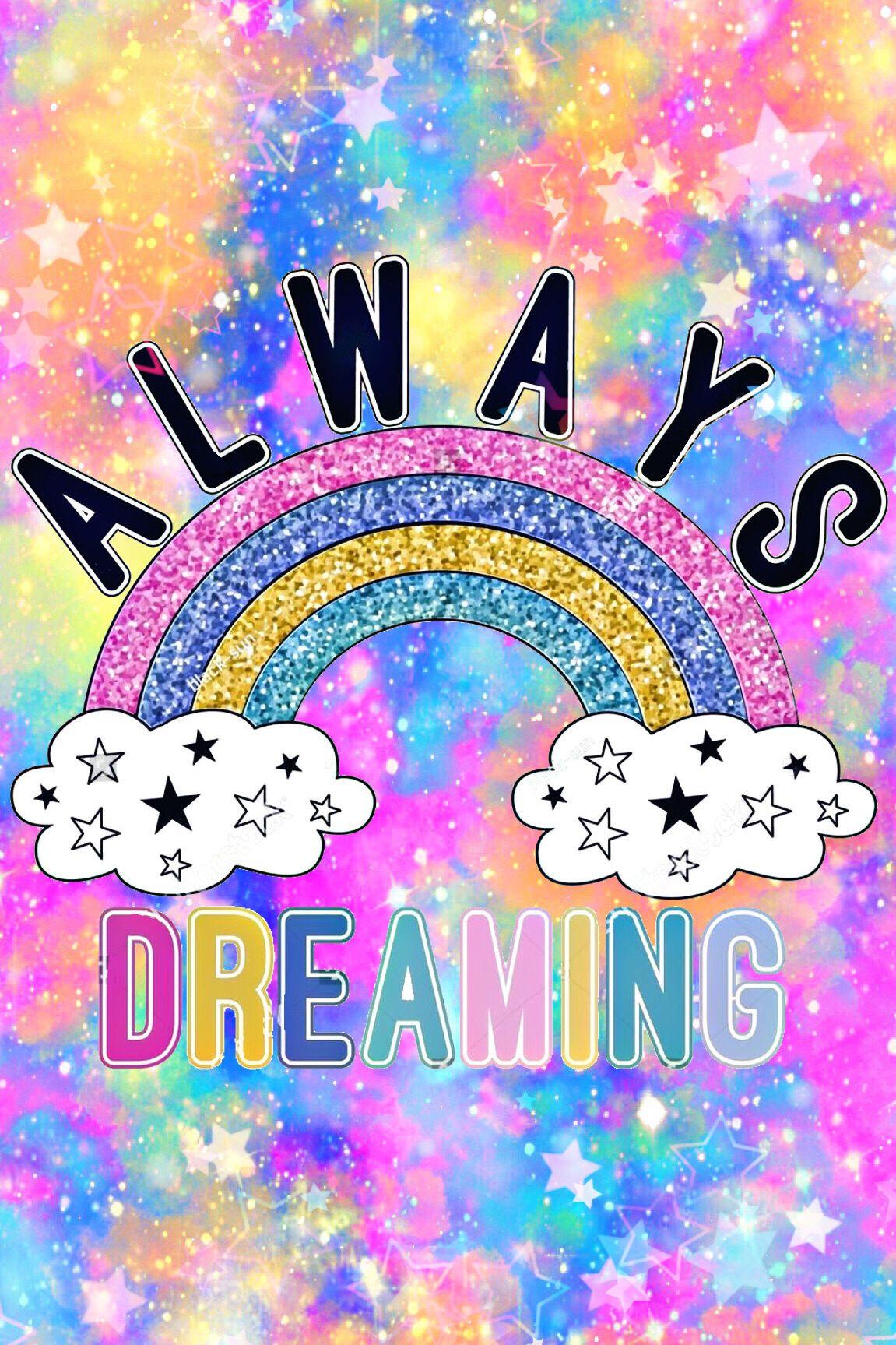 Rainbow Galaxy Wallpaper I Created For The App Cocoppa Galaxy Wallpaper Glitter Wallpaper Rainbow Galaxy