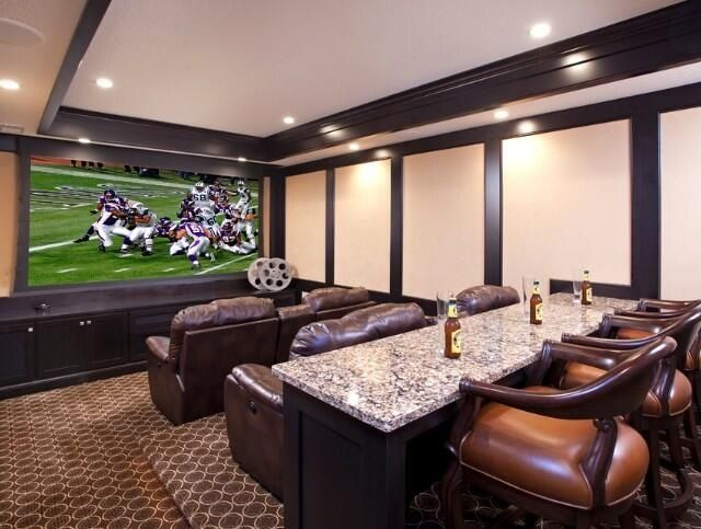 What Is Media Room Part - 19: This Is The Type Of Seating I Want In My Theater. Double It With An Aisle  Down The Middle. But What I Really Like Is The Bar At The Back.