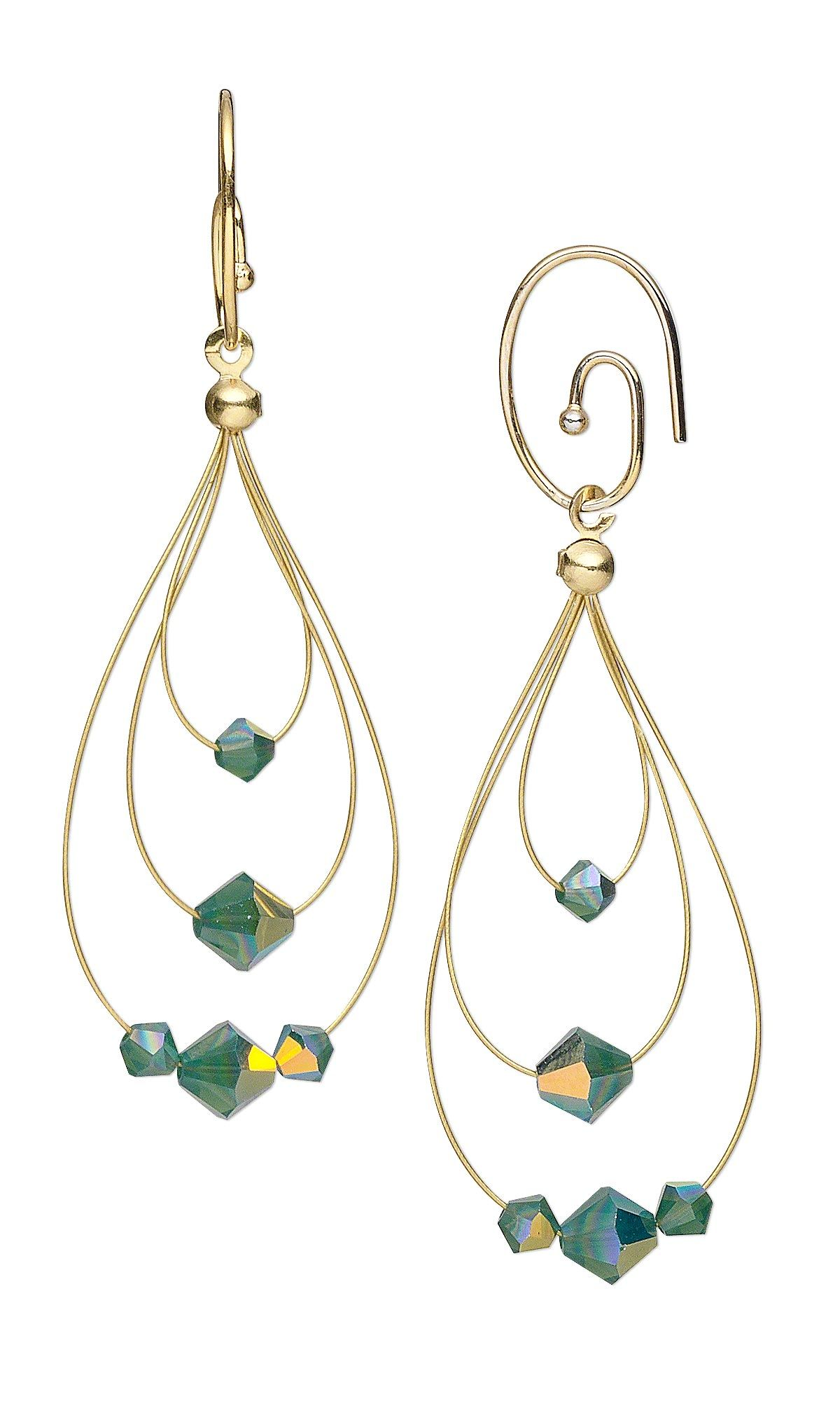 Jewelry Design - Earrings with Swarovski Crystal Beads and Accu-Flex ...