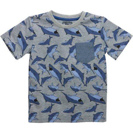 No Retreat Toddler Boys' Graphic Print Contrast Pocket Short Sleeve T-Shirt, Toddler Boy's, Size: 25 Months, Multicolor