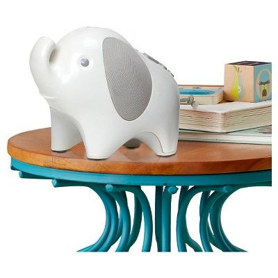 Skip Hop Moonlight & Melodies Nightlight Soother - Elephant, White