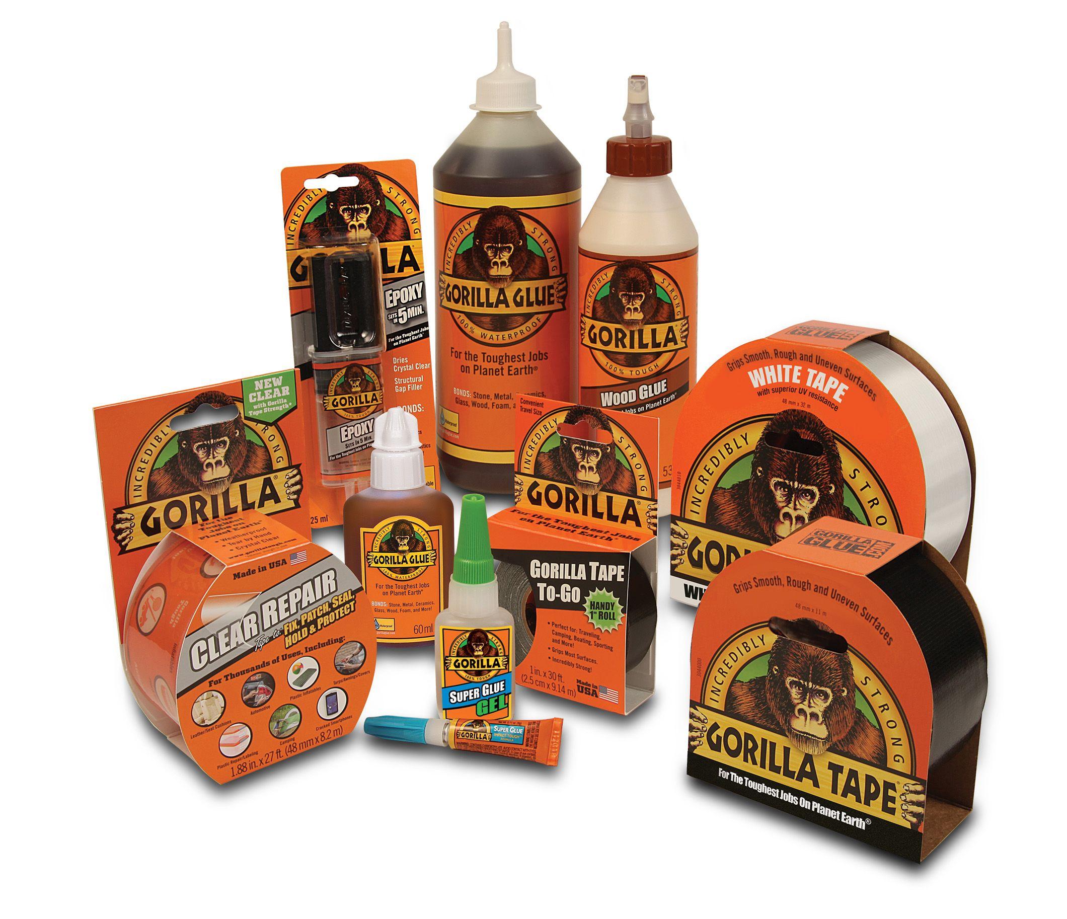 The Gorilla Glue & Tape Range Gorilla glue, Super glue