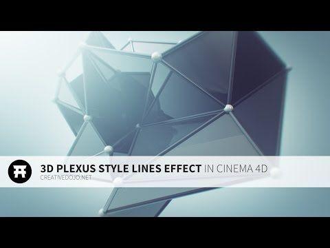 Cinema 4D: 3D Plexus Style Effect with Mograph Tutorial - YouTube