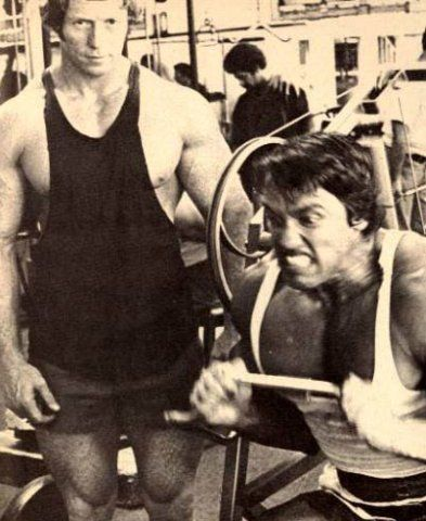 Ken Waller and Arnold Schwarzenegger training venice beach - new arnold blueprint app