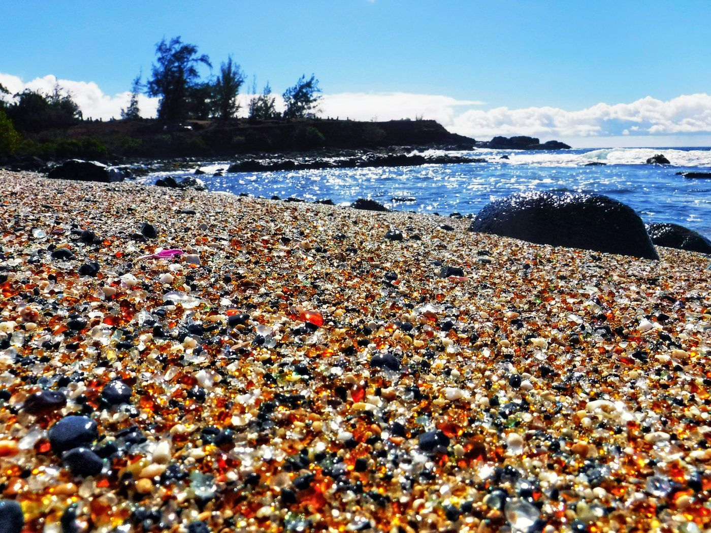 Hawaii's Glass Beach proves that one man's trash can become another man's treasure - with more than 10 years and the powerful Pacific Ocean.