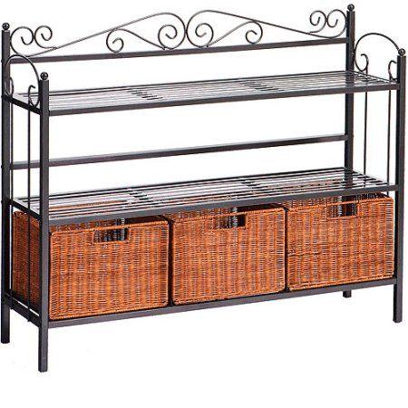Low Celtic Kitchen Storage Unit With Baskets Size 40 25 Inch