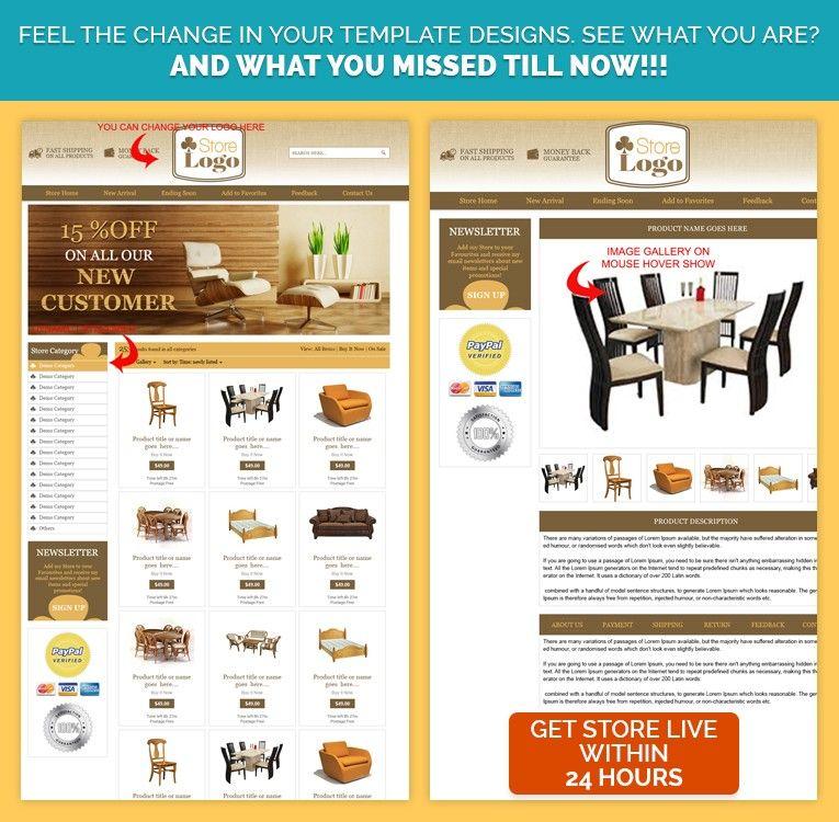 Wooden Theme Ebay Product Description Template