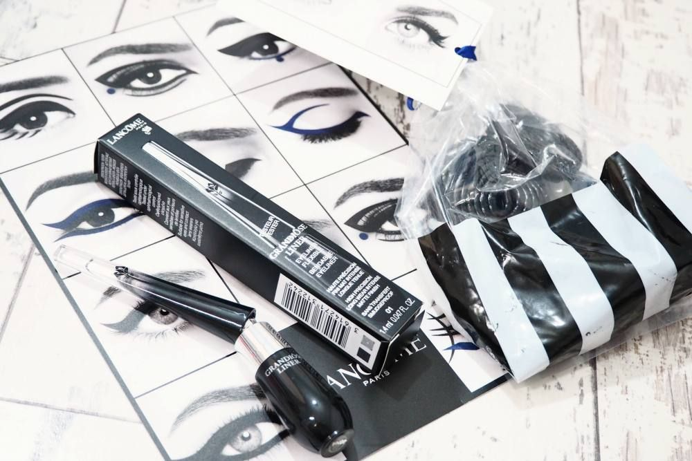 Review and swatches of the Lancome Grandiôse Liner Bendable Eyeliner - a new liquid eyeliner with a bendable lid allowing for greater precision.