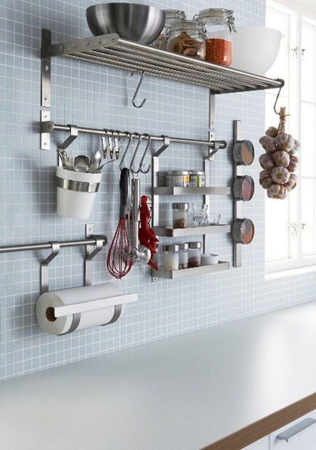 40 Space Saving Storage And Oragnization For Small Kitchens Ideas Remodel Kitchen Wall Storage Declutter Kitchen Ikea Kitchen