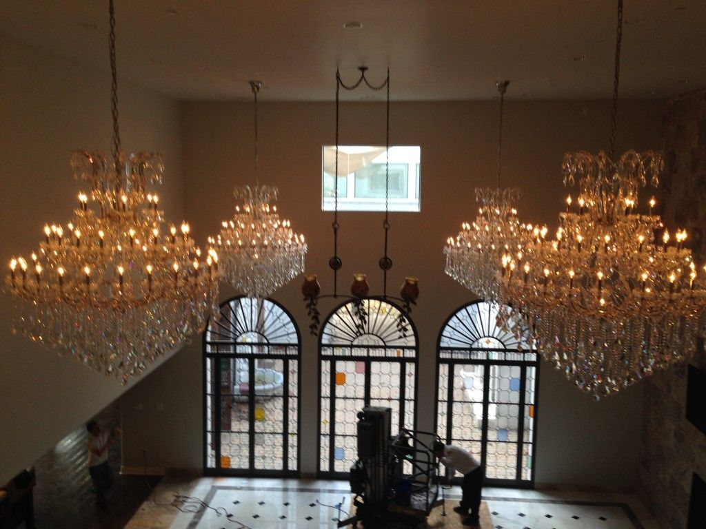 Luxurious chandelier installation tlc electrical electricians luxurious chandelier installation tlc electrical electricians complete chandelier installation dallas tx call today arubaitofo Images