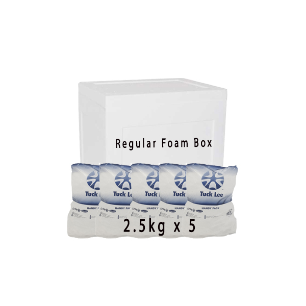 5 Bags Handy Pack 2 5kg Ice And Regular Foam Box Bundle Our Ice Handy Pack Includes The Following 2 5kg Tube Ice X 5 Bags Small Foam Box Ice Bag Handy Packing