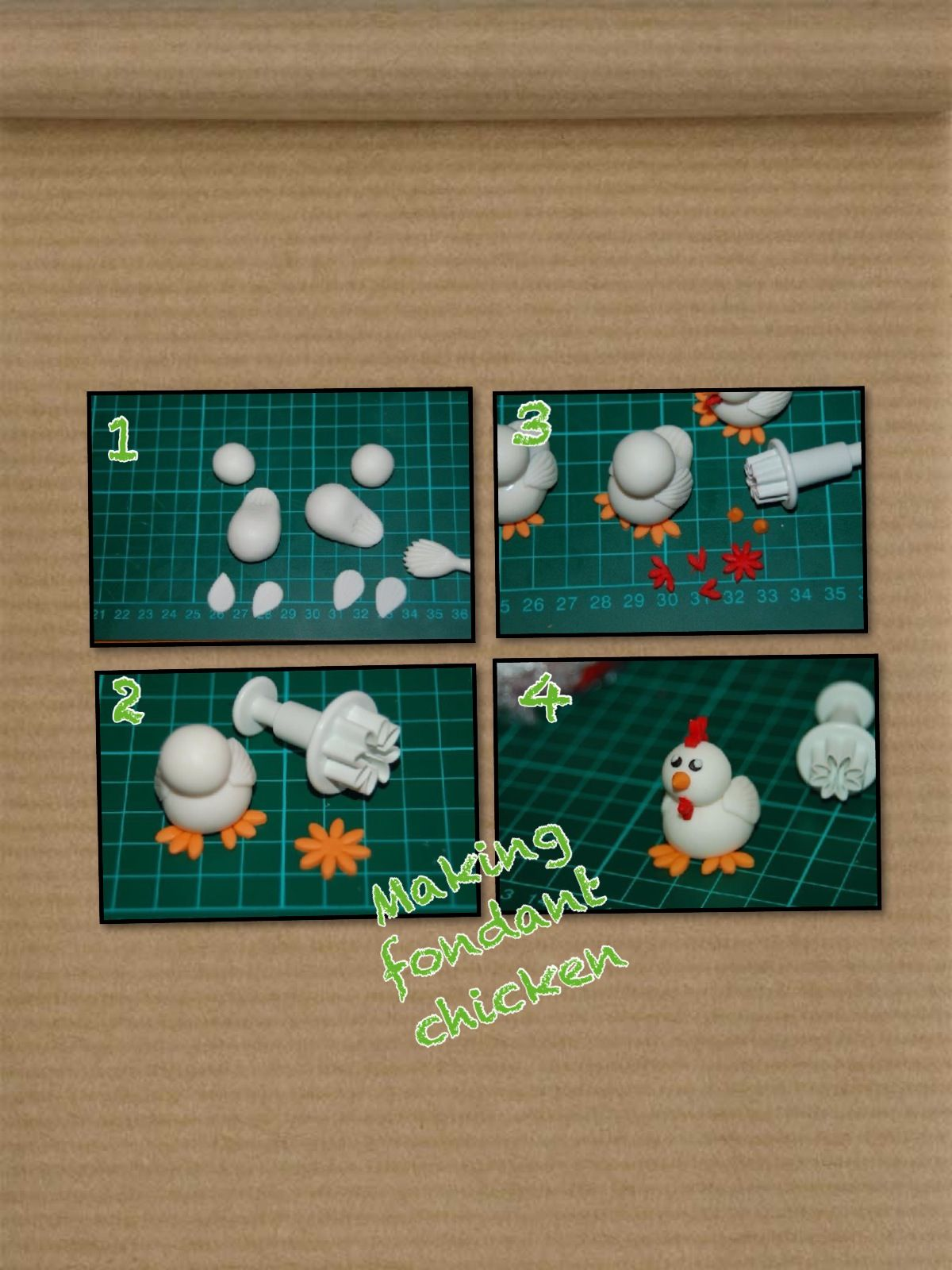 how to make fondant chicken nuggets