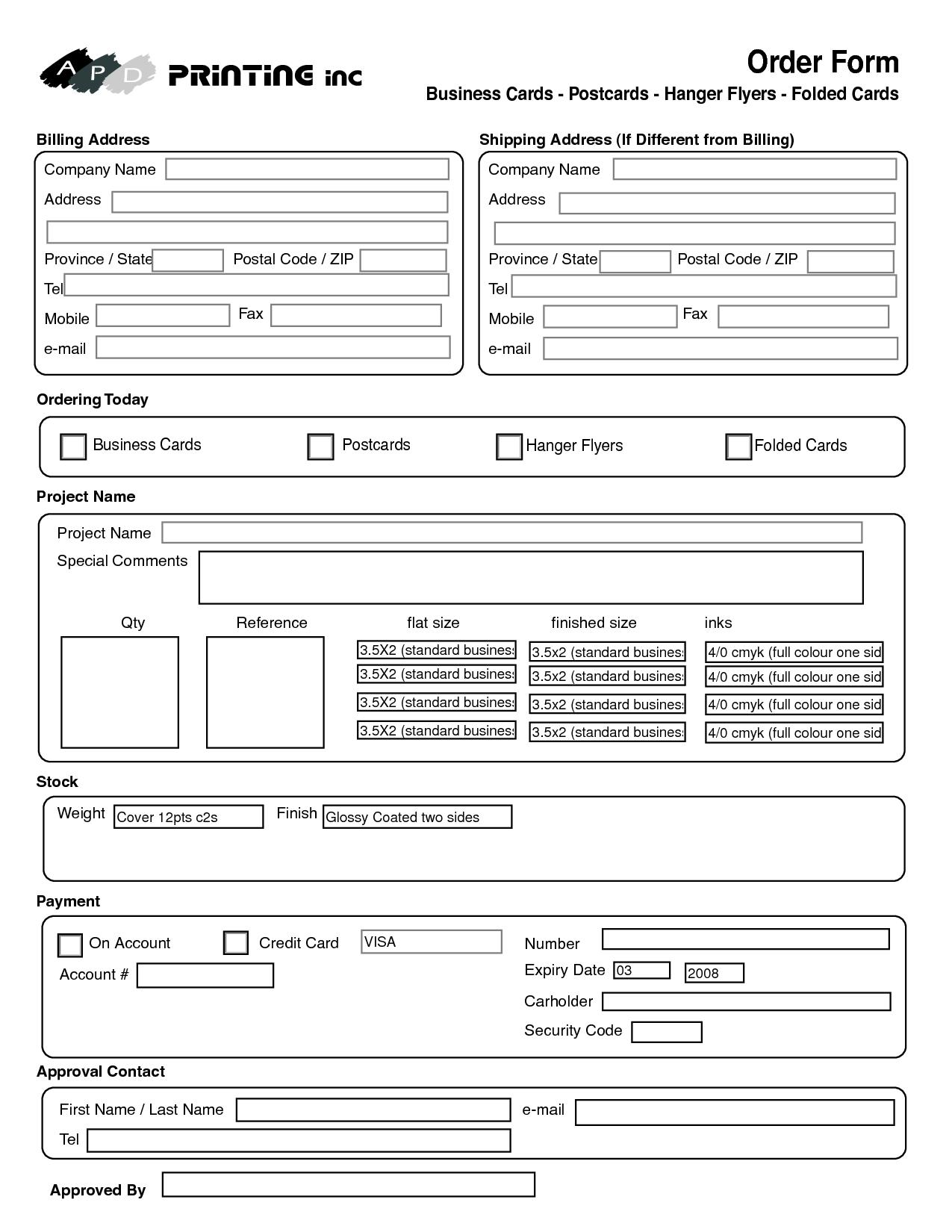 Cake Order Forms Printable Printable Cake Order Form Template