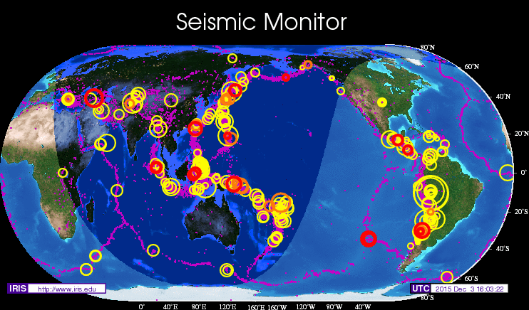 Seismic monitor recent earthquakes on a world map and much more seismic monitor recent earthquakes on a world map and much more gumiabroncs Choice Image