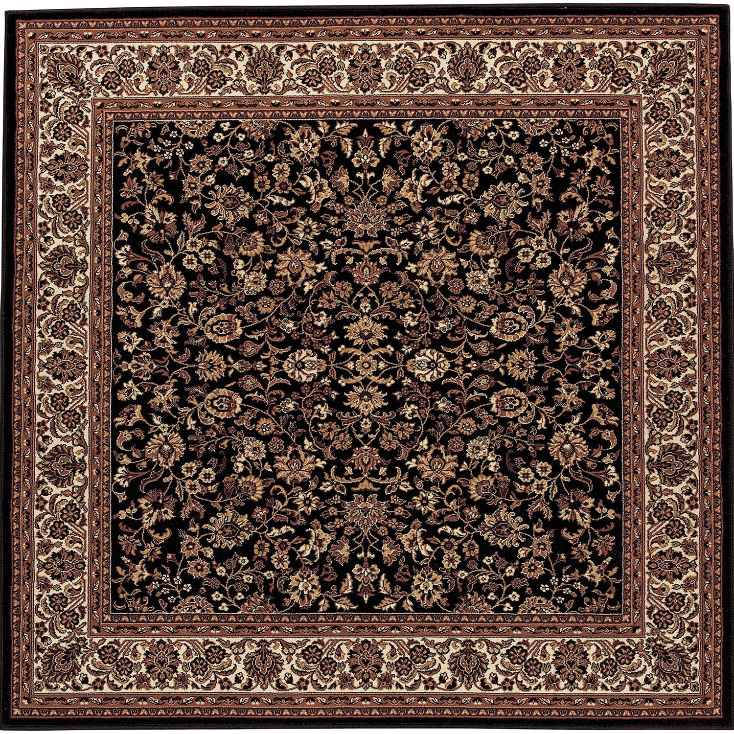 Couristan Everest Isfahan Framed Floral Rug Area Rugs Rugs Square Rugs