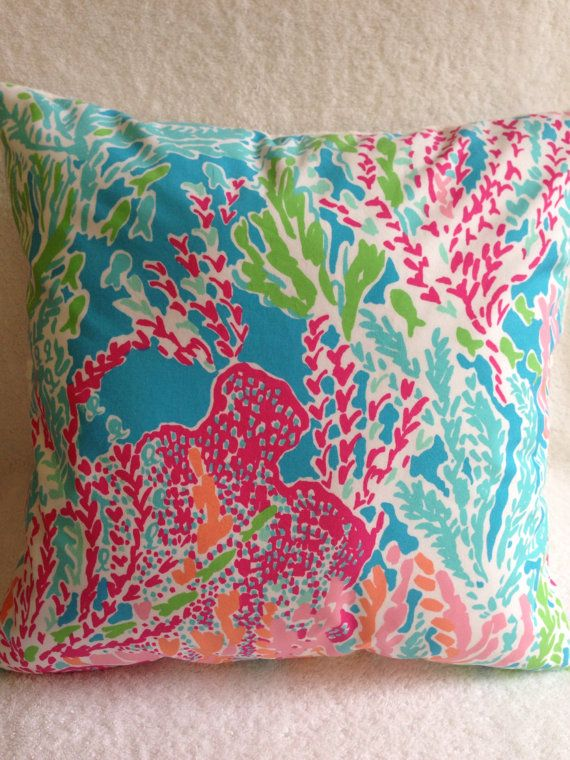 Lilly Pulitzer Pillow Lilly Pillow Cover Throw Pillow Dorm