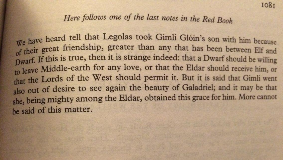 Legolas and Gimli's friendship ❤️
