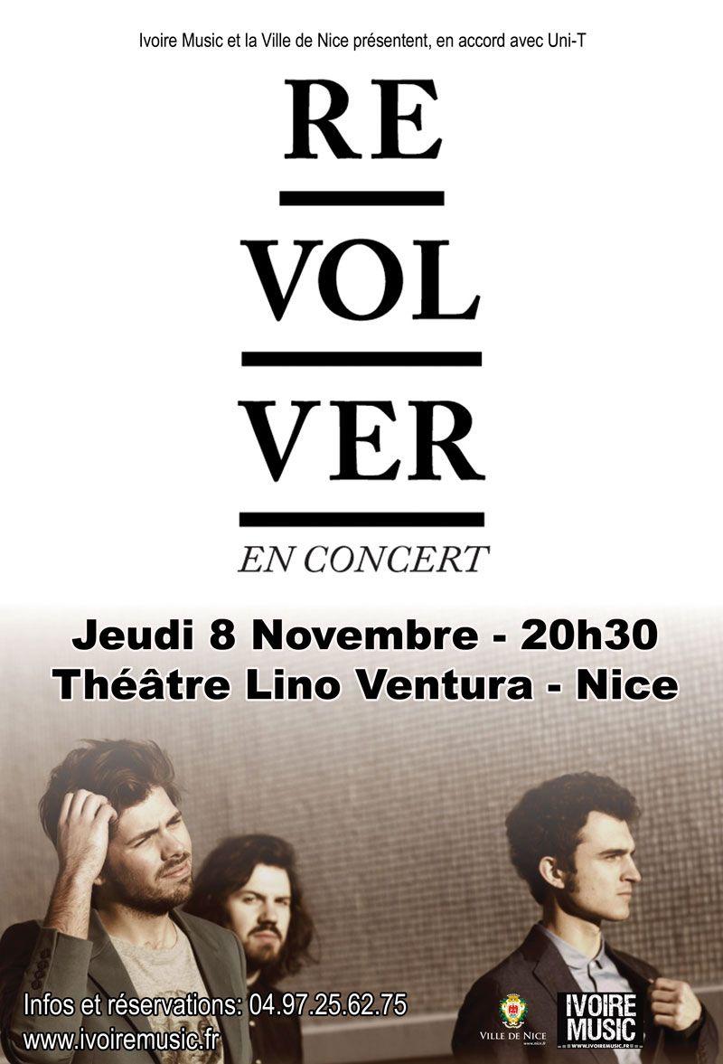 Le 8 Novembre au Théâtre Lino Ventura, Concert de Revolver.  En savoir plus: http://www.ivoiremusic.fr/