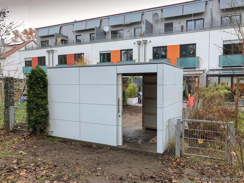 Design Gartenhaus gart drei mit 2 Schiebetüren in 90482