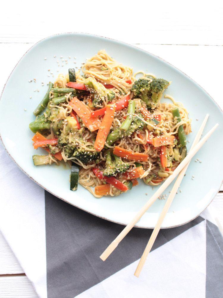 unfassbar leckeres Thai-Gemüse Curry mit Kokos-Erdnuß-Sauce (vegan - ayurvedische küche rezepte