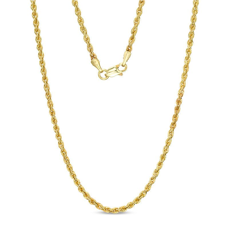 14k Gold 2 1mm Hollow Rope Chain Necklace 24 Chain Necklace Rope Chain Necklace