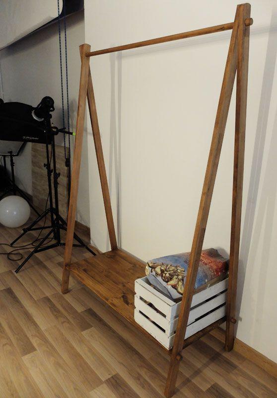 Perchero madera percha burra perchero madera - Burra para colgar ropa ...
