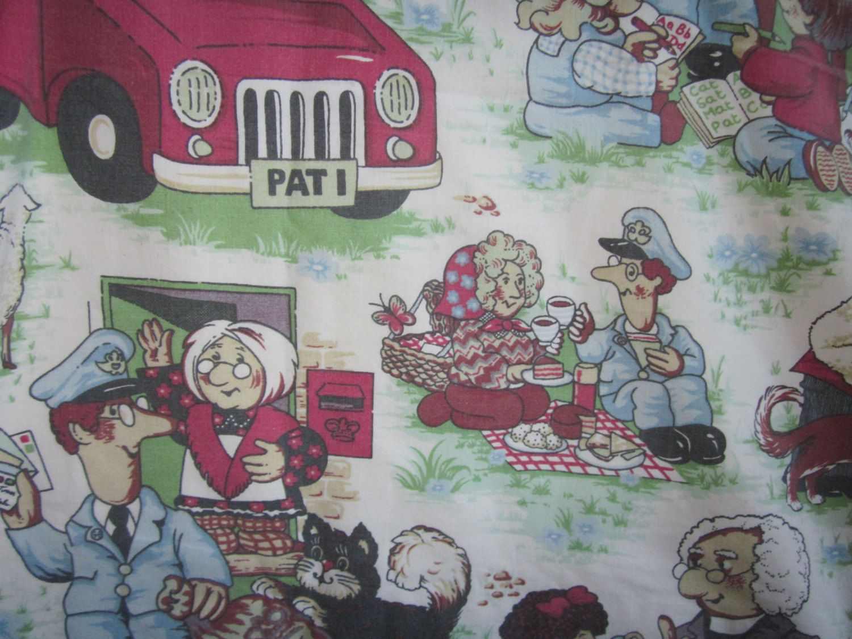 Rare Postman Pat Jess And Friends Vintage Single Twin Blanket Or Throw 80u0027s Childrenu0027s Bedding Postman Pat Fabric & Rare Postman Pat Jess And Friends Vintage Single Twin Blanket Or ...