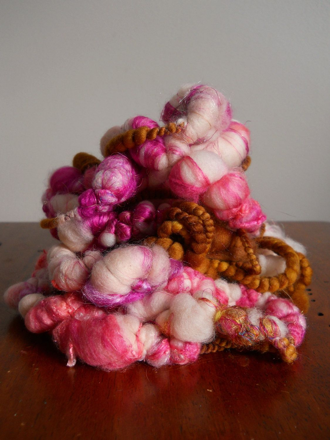 Bobbles the Art Yarn or Eternity Scarf No.10 by designsbyamber, $45.00