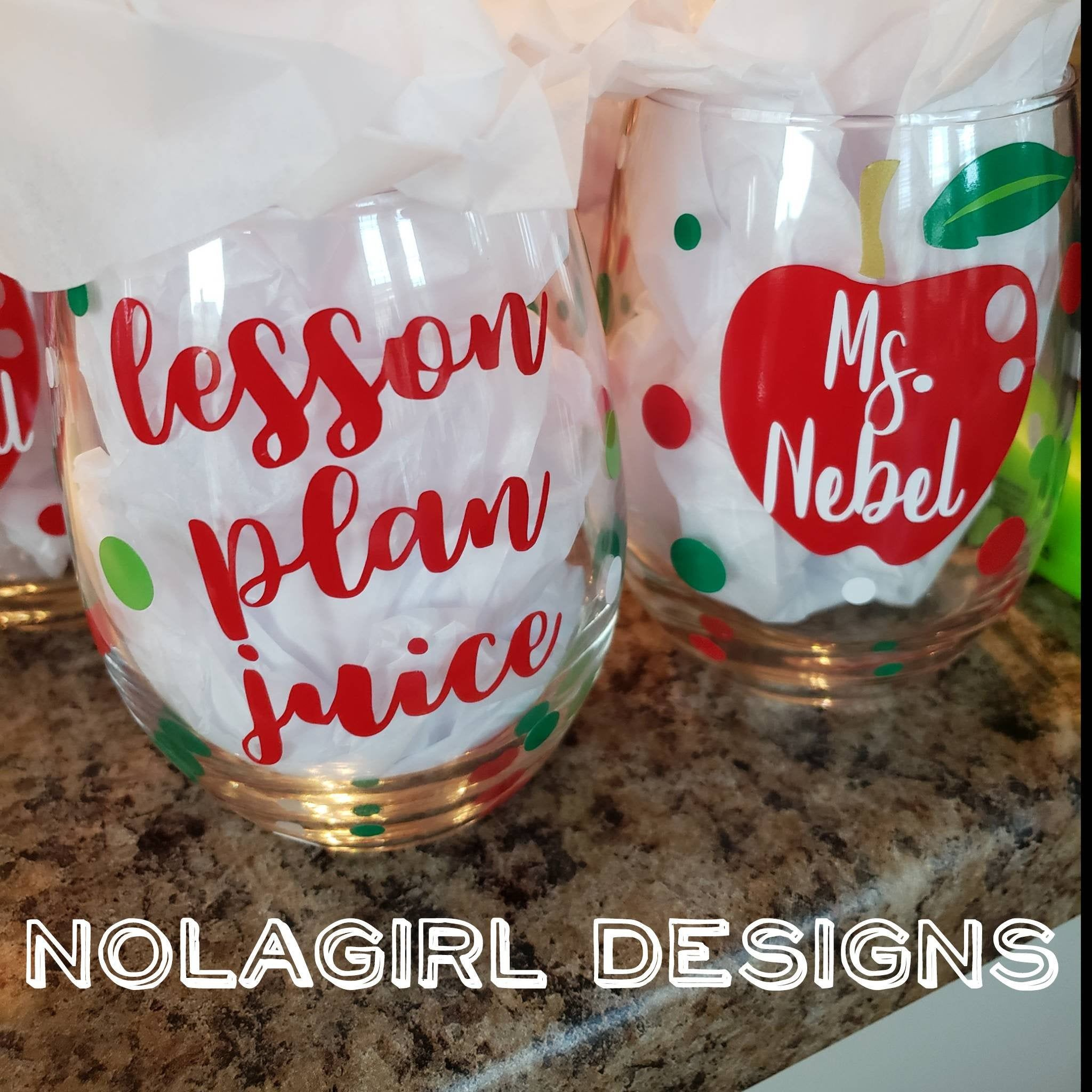 Teacher Gift Personalized Wine Glass Lesson Plan Juice Etsy In 2020 Personalized Wine Glass Wine Teacher Diy Teacher Gifts