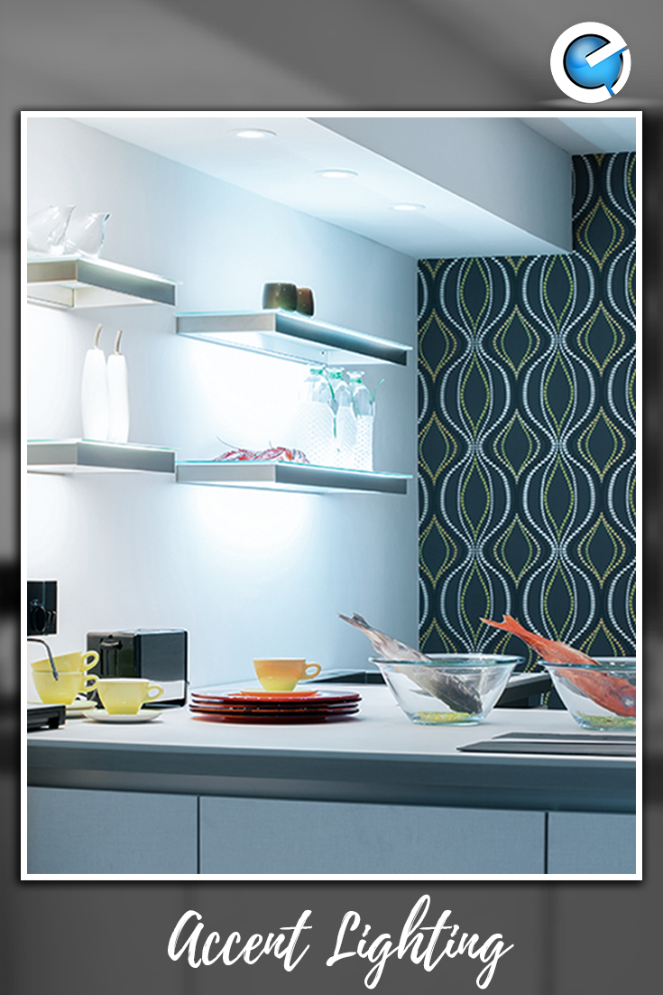 Every room must have both ambient and task lighting. Accent lighting ...