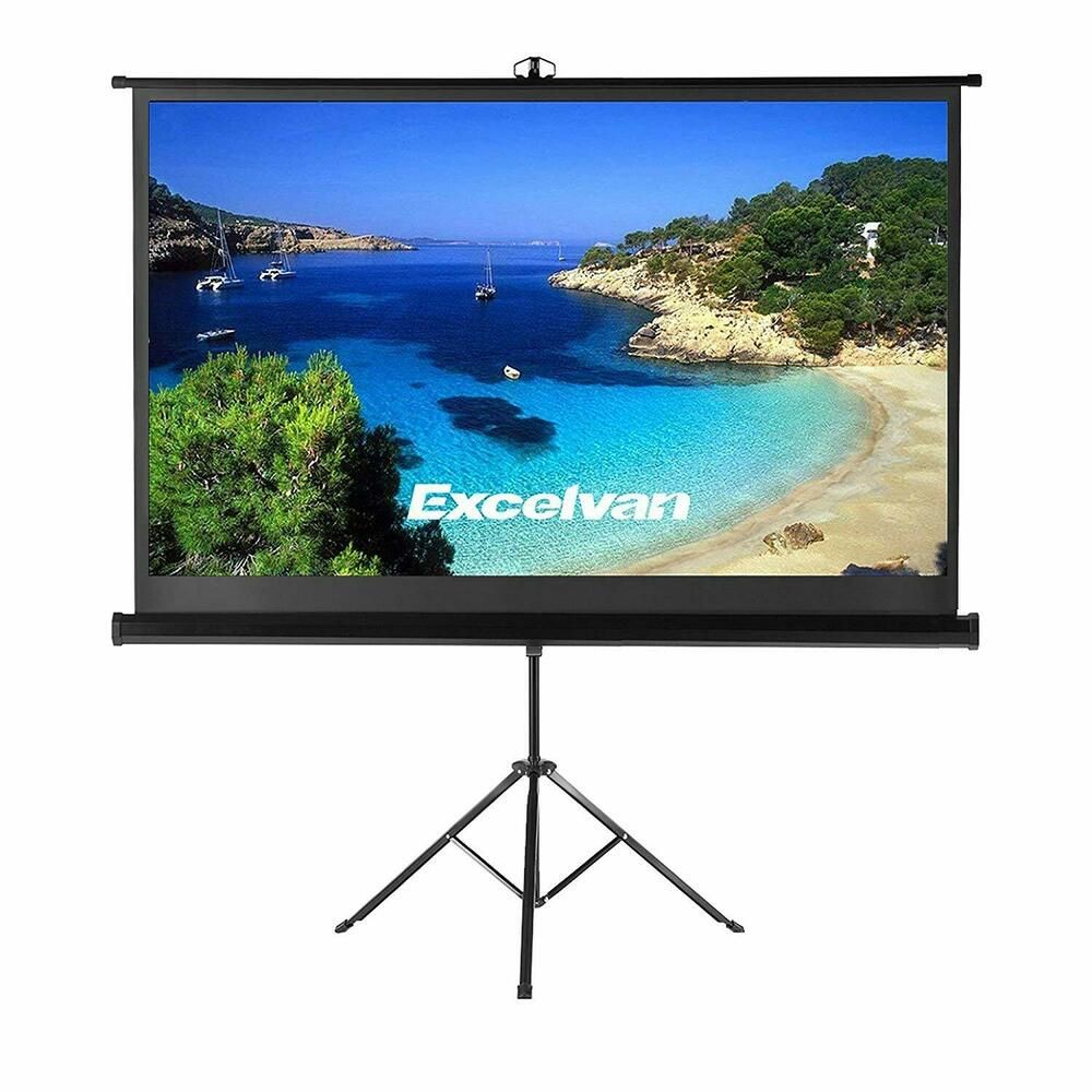 100inch 16 9 Projector Screen With Stand Tripod For Home Cinema Outdoor Living Unbrande Outdoor Projection Screen Portable Projector Screen Projector Screen