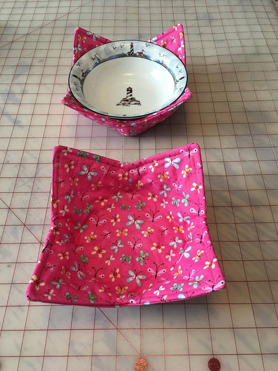 48191887 MICROWAVE BOWL HOLDER/Cozy KSEW177 (Butterfly Fabric) | Sewing ...