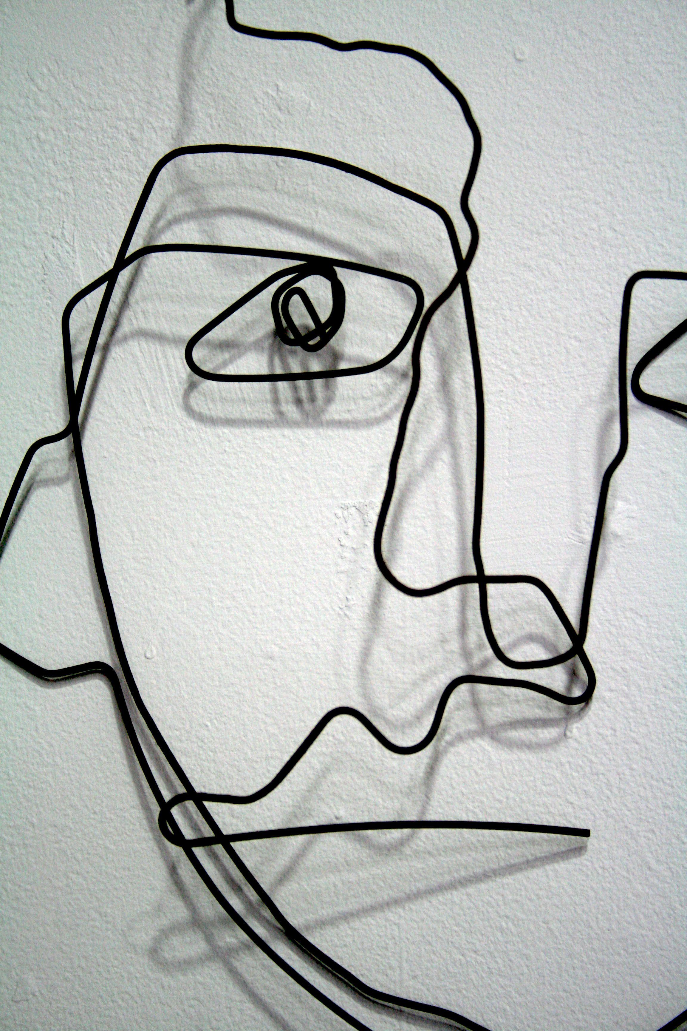 cb42fc5646f0 Contour wire face | Wire faces in 2019 | Wire art, Wire, Contour