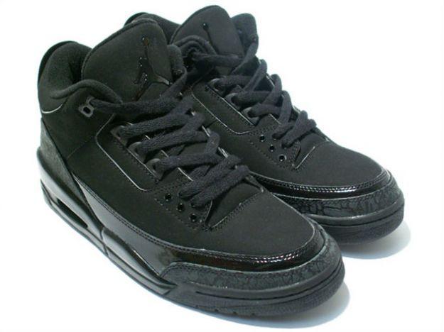4255e14ae06 ... spain air jordan 3 iii retro black cat black dark charcoal black 190f4  505d3